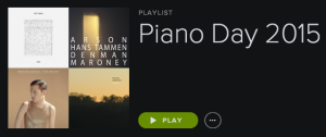 Piano Day Playlist